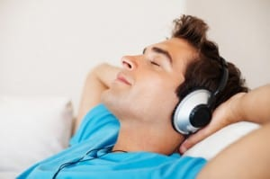 listening to music copy
