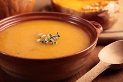 Cooking Pumpkin Soup