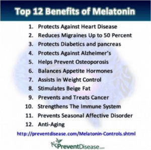 Top 12 Benefit of Melatonin