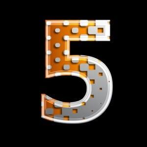 Halftone 3d digit - 5